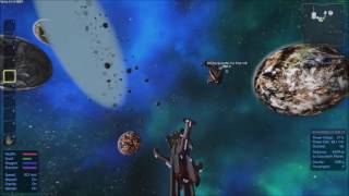 Test 1, 2 Class 5 ships flying around without turrets and no guns