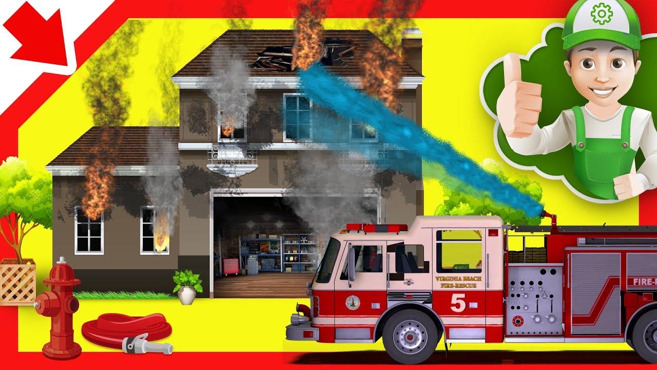 camion de pompier avec sirene camion pompier francais sam pompier pompier dessin anime. Black Bedroom Furniture Sets. Home Design Ideas