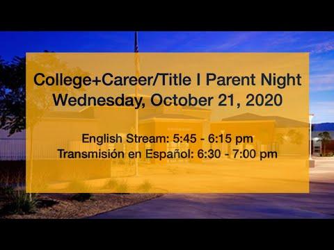 Desert Ridge Academy College/Title I Night