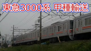 【豊田~日野間ライブカメラ】東急3000系甲種輸送 通過