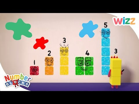 Numberblocks - Learn to Count | Painting Together | Wizz | Cartoons for Kids