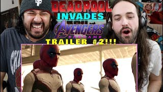 DEADPOOL Invades AVENGERS: ENDGAME - Trailer 2 - REACTION!!!