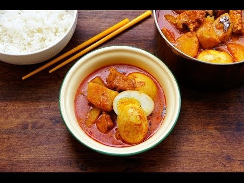 Malaysian Chicken Curry With Potatoes And Eggs