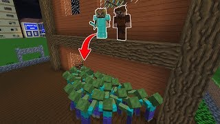 ZENGİN'in ŞEHRİNE ZOMBİLER SALDIRIYOR! 😱 - Minecraft