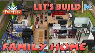 Sims Freeplay - Let's Build A Family Home (live Build Original House Design)