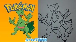 Como dibujar a Sceptile paso a paso -How to Draw Sceptile (Pokemon)