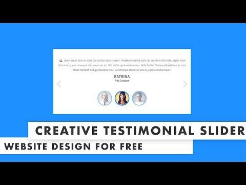 Latest Creative Testimonial slider using HTML CSS 3 & JS
