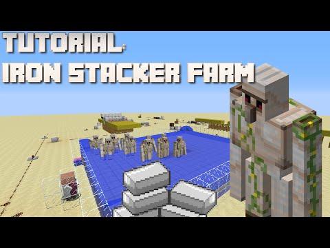 Minecraft: Iron Stacker Farm Tutorial (1.8/1.9/1.10)