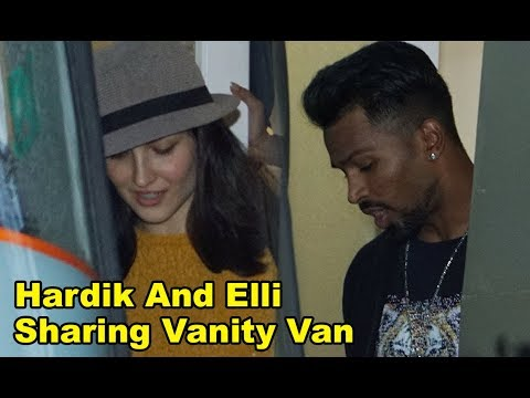 Elli Avram And Hardik Pandya Sharing Vanity Van For AD Shoot