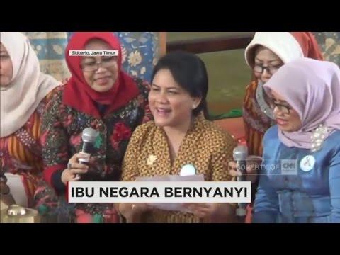 Ibu Negara, Iriana Joko Widodo Bernyanyi Tembang Jawa