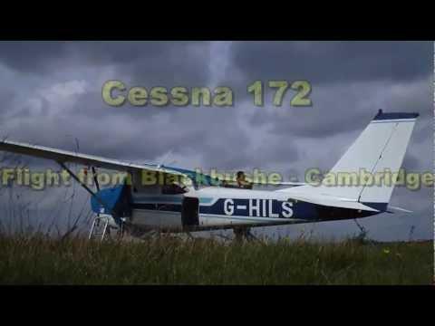 Cessna 172 Flight Blackbushe - Cambridge Crosswind Landing