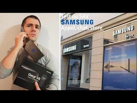 Samsung si on testait le SAV ? (Appel, chat, Samsung Store)