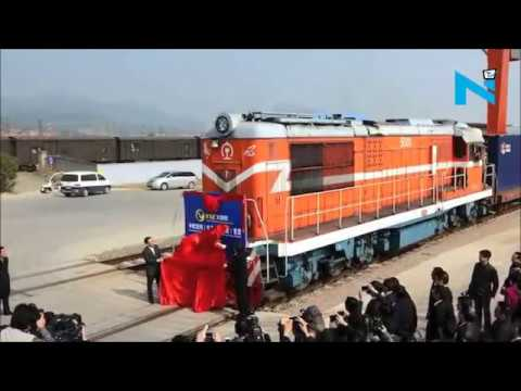 C H I N A - Sends first Freight Train to LONDON - One Belt One Road !