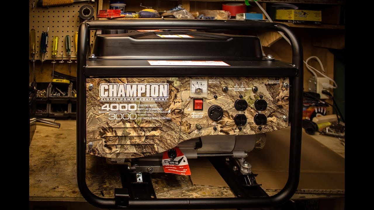 4000 3000 Watt Champion Generator Review