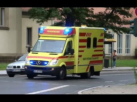 Dresden BF Baby ITW | Dresden fire dept. baby MICU responding [GER | 15.7.2016]