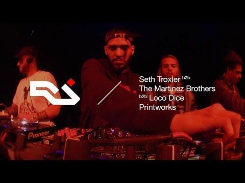 RA Live: Seth Troxler b2b Loco Dice b2b The Martinez Brothers at Printworks