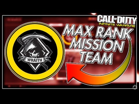 WRAITH MAX RANK! [Infinite Warfare Max Rank Mission Teams]