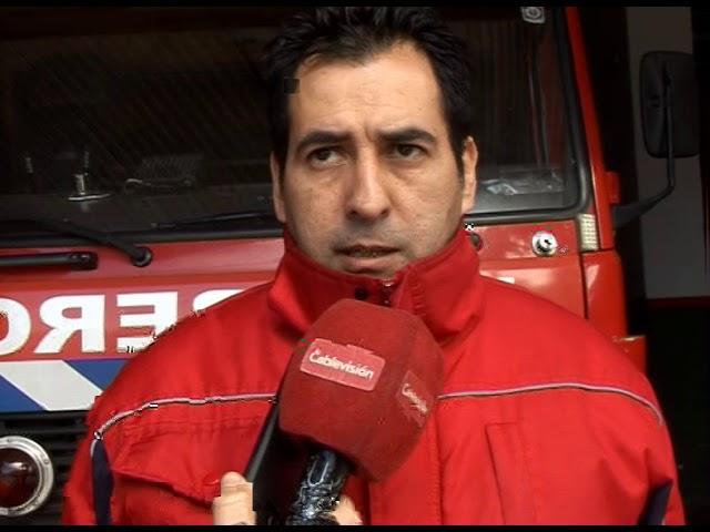Principio de incendio en basural clandestino de Carlos Paz
