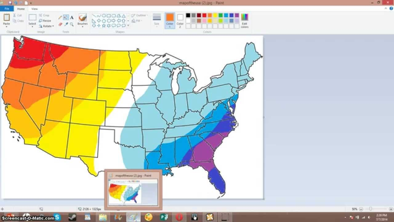 How To Make A Weather Map Using Windows Paint