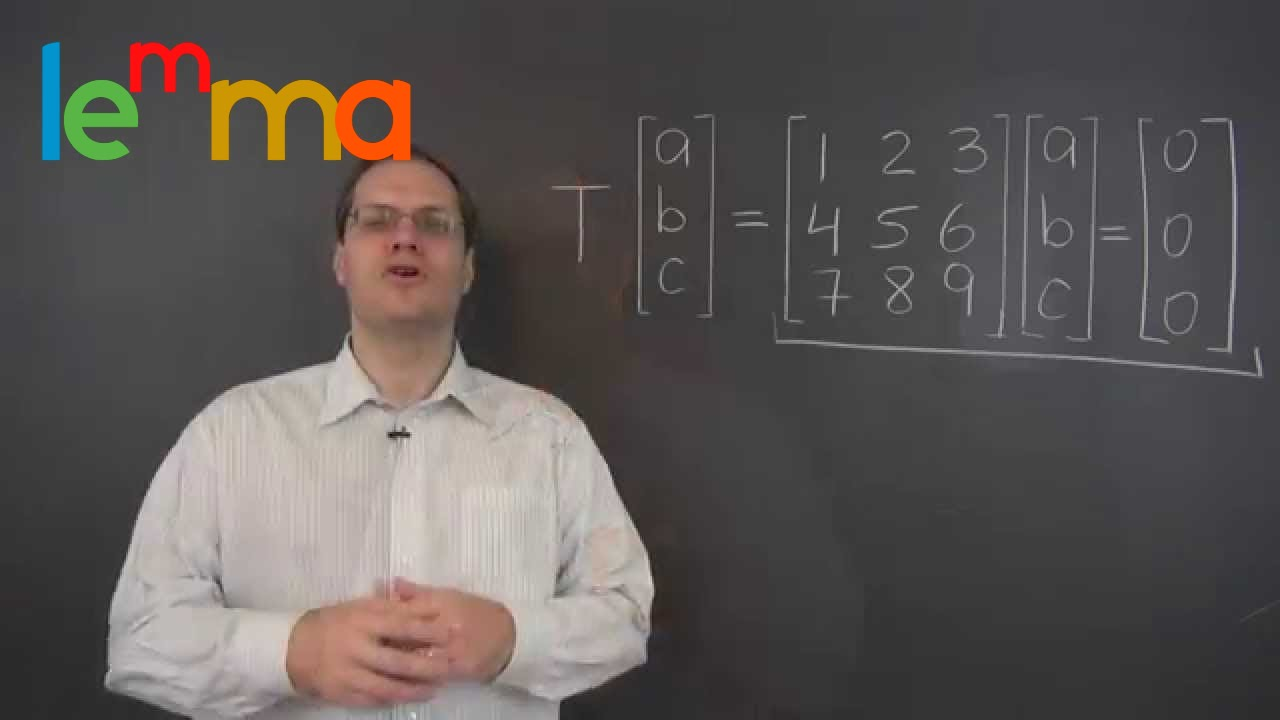 Linear Algebra 15o: The Null Space Of A Linear Transformation