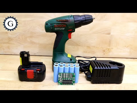 Lithium Battery + BMS + Nicd/Nimh Charger, Is it possible? Bosch cordless drill 14.4V PSR 1440