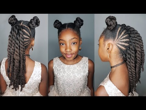 Buns and a Mohawk- Protective hairstyle for Girls thumbnail