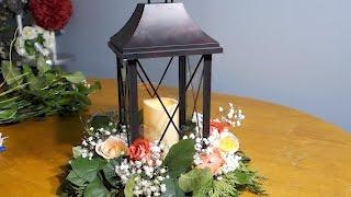 Композиция на стол с фонарём