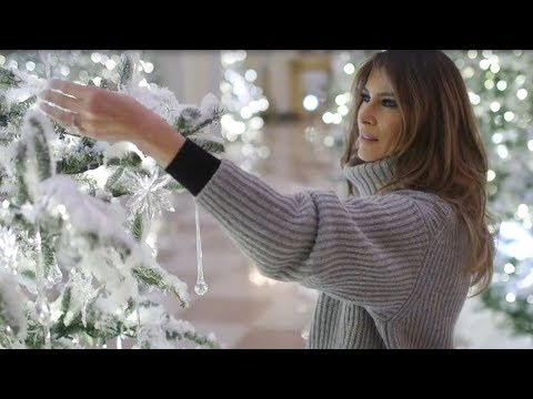 Donald & Melania Trump Decorate White House For Christmas & Internet REACTS