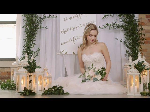 Rustic & Elegant Greenery Wedding Style Shoot