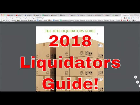 Do You Want to Know What Is In The 2018 Liquidators Guide from PS101? Sunday Night Hangout
