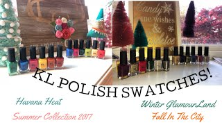 KL POLISH TRY-ON: Summer 2017, Winter Glamourland, Havana Heat & Fall In The City