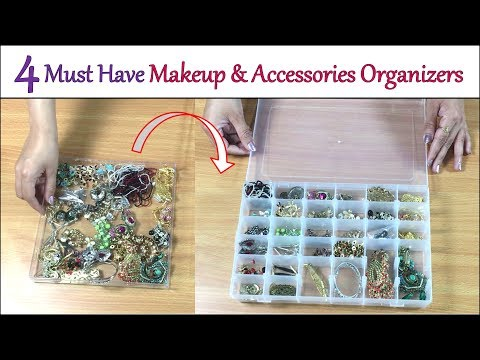 Jewelry And Makeup Organizers | How To Organize Makeup And Jewelry | Space Saving Ideas & Tips