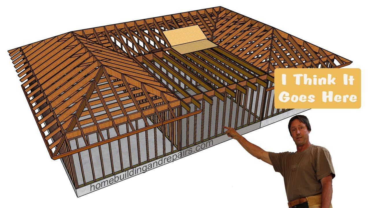 How To Build Home Addition Between Building With Existing Hip Roofs Youtube