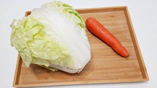 素食家常菜料理│大白菜這樣做太香了,加一條紅蘿蔔,不炸不煎不烤,營養美味下飯,好吃到湯汁一滴都不剩 │Vegan Recipe │EP183