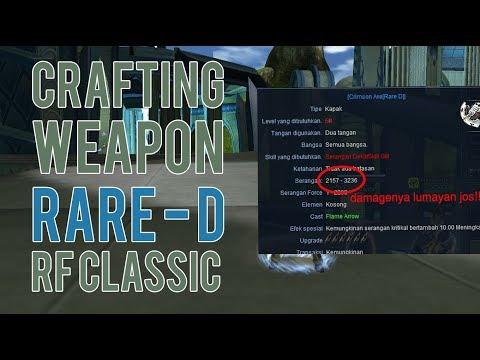 Crafting Weapon RARE D Di Rf Classic ???? Challenge Accepted | Damage Setara 50 Int + Igno Mantaps!!
