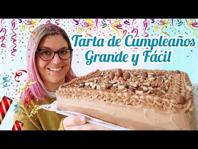 TARTA DE CUMPLEAÑOS GRANDE Y FÁCIL DE HACER *Pastel de Cumpleaños Fácil y Rápido*