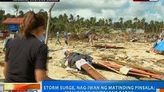 NTG: Storm surge, nag-iwan ng matinding pinsala sa Hernani, Eastern Samar