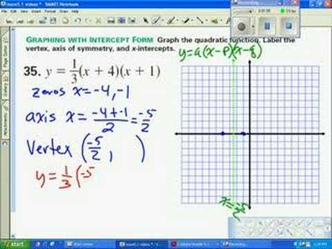 slope intercept form quadratic equation  113 13 Solving Quadratic Equations By Graphing And Factoring ...