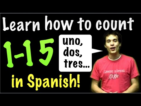 Learn Spanish! - Count from 1 to 15