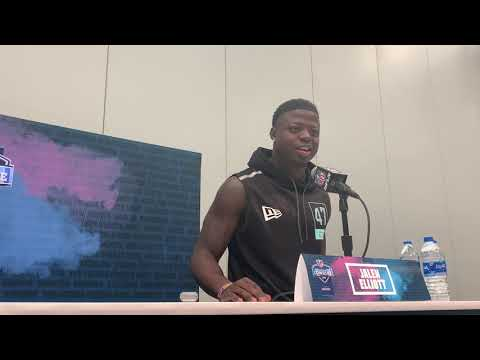 Notre Dame Safety Jalen Elliott at the 2020 NFL Scouting Combine