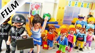 Playmobil Film deutsch   Polizei SEK Einsatz in der GRUNDSCHULE   Diebstahl und mysteriöser Koffer