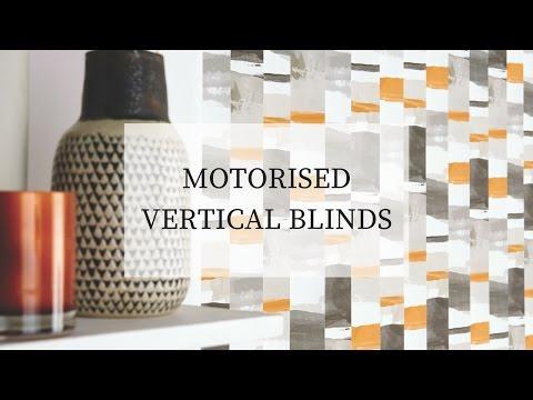 Motorised vertical blinds