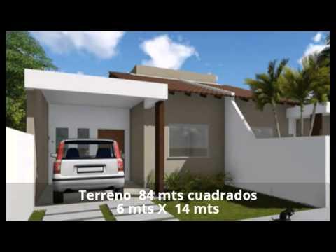 Planos de casa econ mica 85 metros cuadrados youtube for Casas modernas de 80 metros