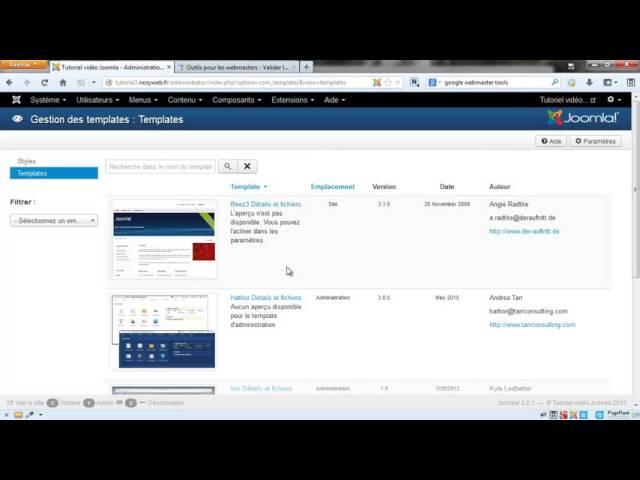 Joomla 3 - Ajouter mon plan de site XML à Google Webmaster Tools