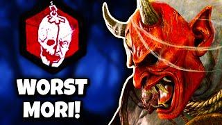 WORST MORI EVER! (ONI MORI!)   Dead by Daylight (Cursed Legacy DLC - DBD PTB Gameplay)