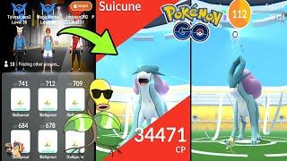Pokémon GO | BELLSPROUT ARMY DESTROYS SUICUNE RAID BOSS! (Level 5) | Legendary Gym Raids Ep. 42