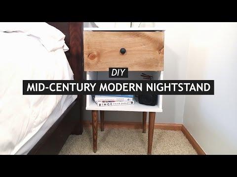 DIY MID-CENTURY MODERN NIGHTSTAND