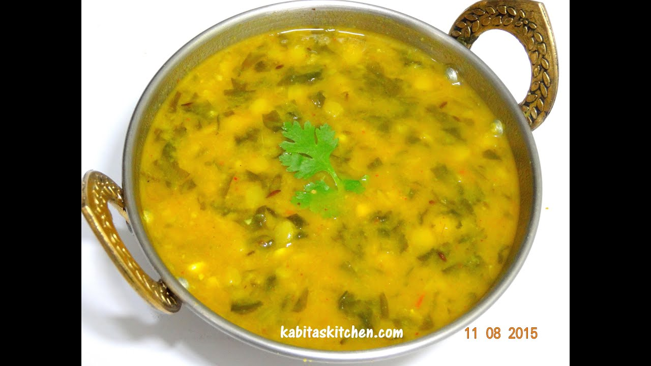-Palak Dal In Pressure Cooker-Easy and Healthy Spinach Dal- Lentils ...