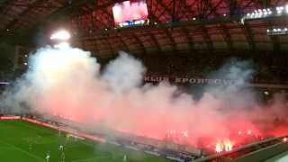 Racowisko podczas meczu Lech - Legia 3:1 (10.07.2015) Superpuchar Polski 2015