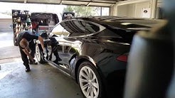 Detailing By M Install of 22PLE VX3 Signature Glass Coat on a Black 2016 Tesla Model S 60D